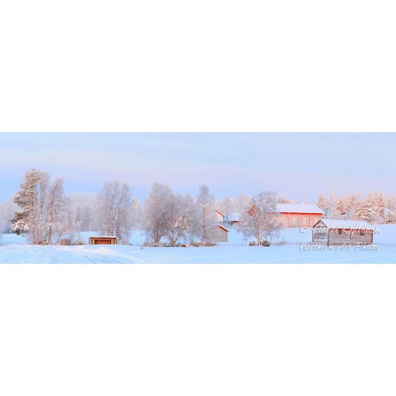Talvinen maalaismaisema - Tapetti