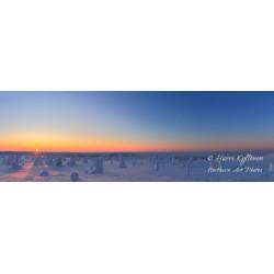 Auringonlasku Riisitunturissa - HD - Tapetti