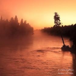 Auringonlasku Kiveskoskella...