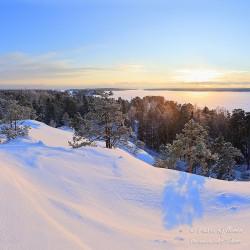 Kasavuoren talvinäkymä - Canvas-taulu