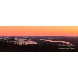 Näkymä Iivaarasta auringon laskettua - HD - Juliste