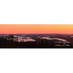 Sunset view from Iivaara -...