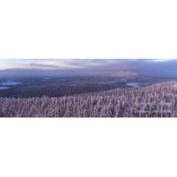 Distant winter view to Ruka...