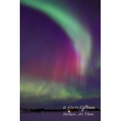 Red and green auroras - Poster