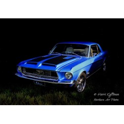 Ford Mustang -67 - Poster