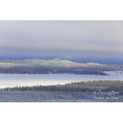 Hopealahti talvella - Juliste