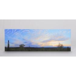Kesäyön pilvet - 150x50x4cm Canvas-taulu