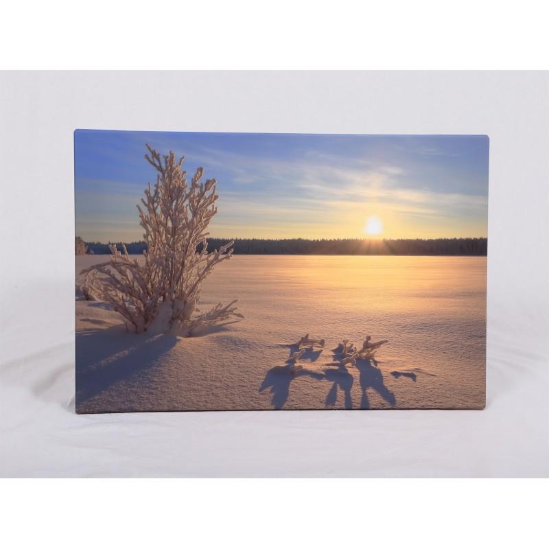 Auringonlasku Mustajärvellä - 60x40x2cm Canvas-taulu