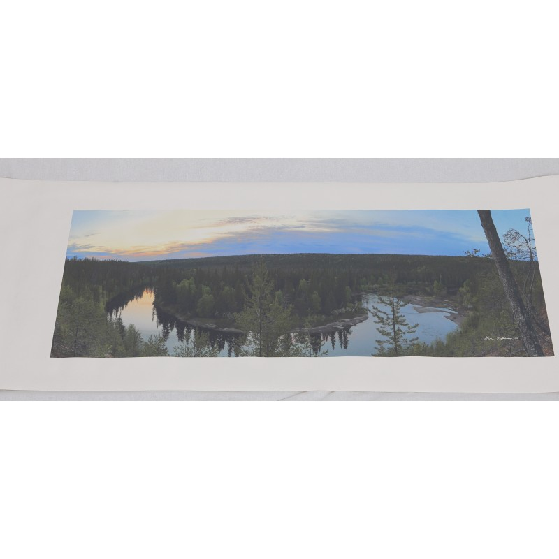 Oulankajoki - 111x43cm Canvas-juliste