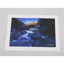 Vuoristojoki - 40x28cm Canvas-juliste
