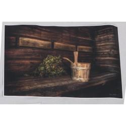 Saunassa - 44x29cm juliste