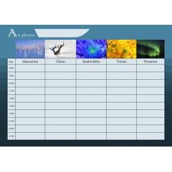 Customized Photo School Timetable - Film