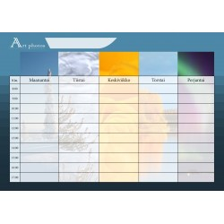 Customized Photo School Timetable - Columns