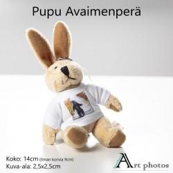 Customized Photo Bunny Key Fob