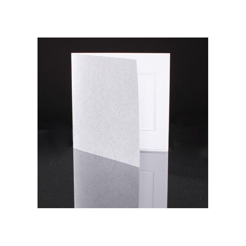 Neliökiitoskortti - Gothic valkoinen