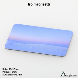 Large photo magnet