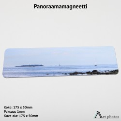 Customized Panorama Photo Magnet