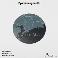 Customized Circle Photo Magnet