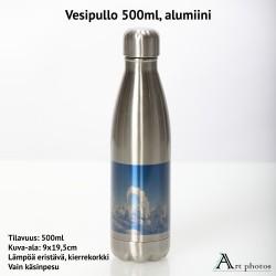 Juomapullo 500ml omalla kuvalla - ruostumatonta terästä