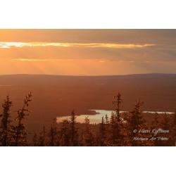 Auringonlaskunäkymä - Palapeli