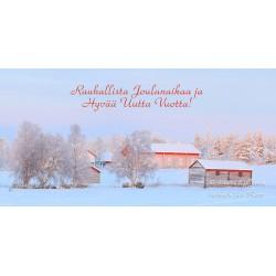 Idyllinen maalaismaisema - 10x20cm joulukortti