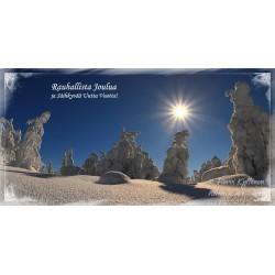 Keskitalven kuutamo II - 10x20cm joulukortti