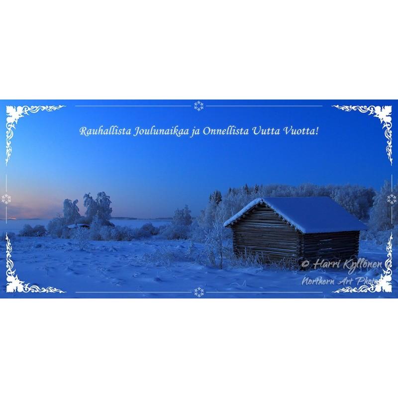 Sininen hetki V - 10x20cm joulukortti