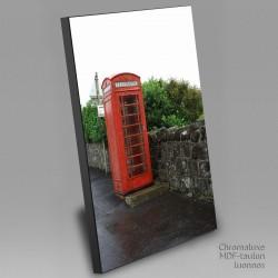Vanha puhelinkoppi - Chromaluxe taulu