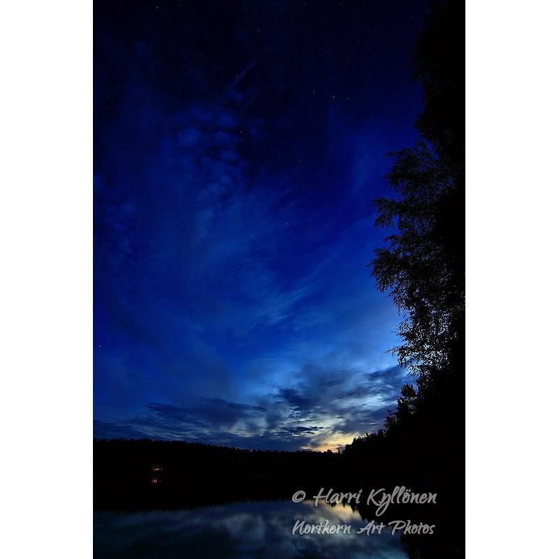Sininen yö - Canvas-taulu