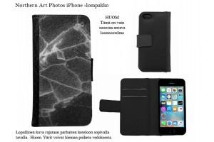 Mustavalkoiset iPhone-lompakkokotelot