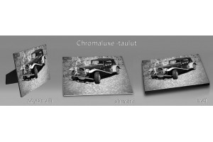 Mustavalkoiset chromaluxe-taulut